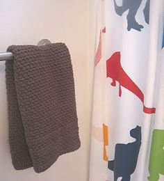 Crochet bath towel, love the color, pattern and idea of this!