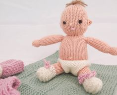 Hand-Knit Baby Doll, Softies, Dress Up Doll, Knitted Doll , Girls Toy Doll, Waldorf Doll, Toddler Toy, Molly the Dolly, Wool Knit Doll.Dress by heaventoseven on Etsy