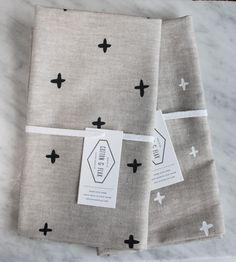 Different coloured fabrics alder & co. - tea towel