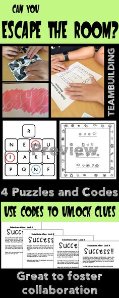 Great for back to school, end of the year, team building, and collaboration. Escape room game for any subject and grade level