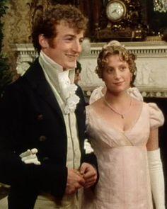 Crispin Bonham-Carter (Mr. Charles Bingley) & Susannah Harker (Jane Bennet) - Pride and Prejudice directed by Simon Langton (TV Mini-Series, BBC, 1995) #janeausten