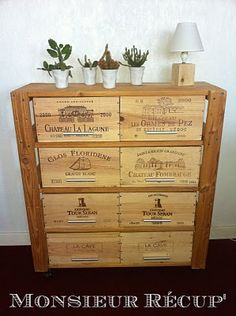 1000 images about wine box furniture on pinterest wine for Wine crate furniture