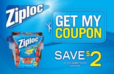 Ziploc Coupon: Save $2 on next purchase of any Ziploc brand container
