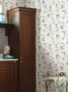 French Country is making a resurgence.  Try this unique botanical wallpaper in a guest bath.  http://lelandswallpaper.com