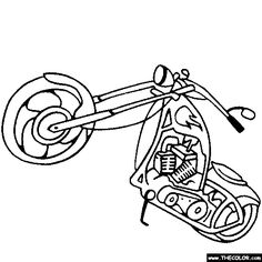 74 best steve s images on pinterest printable coloring pages 1970 Chevelle Shadow classic motorcycle coloring page
