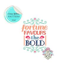 Fortune Favours the Bold. Typography Cross by plasticlittlecovers, £3.00