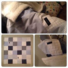 Gjenbruk av herreskjorter med pusete bakstykke. Mykt og deilig babyteppe💙 Louis Vuitton Damier, Homemade, Pattern, Diy, Home Decor, Decoration Home, Bricolage, Room Decor, Patterns