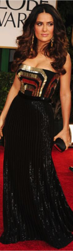 Red Carpet Fashion #dress LOve the hair and its length and color!