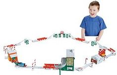 Fisher-Price Thomas the Train TrackMaster Holiday Cargo Delivery Set - Just $39.99! LOVE THIS! - http://www.pinchingyourpennies.com/fisher-price-thomas-the-train-trackmaster-holiday-cargo-delivery-set-just-39-99-love-this/ #Amazon, #Christmasset, #Thomastrain