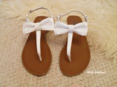 White sandals with bows #summer