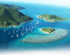 Marina Cay - BVI-anchored here for the night when chartering a catamaran for 10 days of sailing the US & British Virgin Islands with good friends of ours.