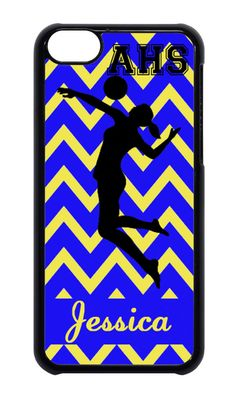 SCHOOL COLORS PERSONALIZED VOLLEYBALL SPORTS CHEVRON IPHONE CASE 4 5 6 6 PLUS #Apple