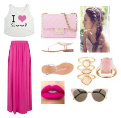 A fashion look from August 2015 featuring i love shirts, neon pink skirt and toe thongs. Browse and shop related looks. Love Shirt, Summer Breeze, Mellow Yellow, Label Design, Fendi, Fashion Looks, Polyvore, Pink, Outfits