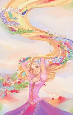 Rapunzel from Tangled art Rapunzel Flynn, Rapunzel And Eugene, Disney Rapunzel, Disney Princess Art, Disney Fan Art, Disney Girls, Disney Love, Princess Rapunzel, Disney Pixar