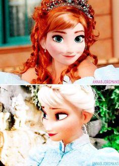 Adorable Elsa and Anna edit! Anna is so beautiful! Disney Pixar, Disney And Dreamworks, Disney Frozen, Disney Art, Disney Girls, Disney Love, Disney Magic, Disney Princess, Disney Adoption