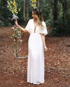 Sunset Wedding, Boho Wedding, Wedding Ceremony, Dream Wedding, Mini Wedding Dresses, Wedding Dress Sleeves, Bridal Dresses, Mini Vestidos, Orange Wedding