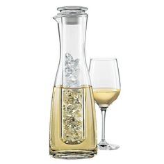 2 Piece Wine Chilling Carafe. I LOVE THIS!!!  I NEED it! Lol