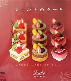 Out-of-print Ruko's Cake Made of Felt Japanese by MeMeCraftwork