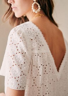Eyelet Top, Look After Yourself, Cotton Lace, Beautiful Outfits, Beautiful Clothes, Her Style, Fashion Looks, Style Inspiration, Bijoux Diy