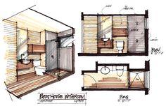 Washroom Plan, Boathouse Renovation and Extension in Muskoka Lakes, Ontario