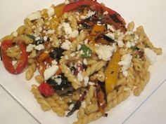 Pasta Salad With Grilled Peppers, Feta and Mint