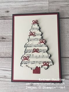 Esther Boulter - Gather and Create Christmas Card using Stampin' Up! Ready for Christmas Bundle