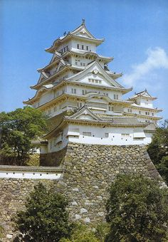 "Himeji Castle, Hyogo Prefecture, Japan. This is one of the few castles that is an ""original."" Many Japanese castles were bombed out during WWII and rebuilt afterwards. Himeiji-jo did not suffer that fate and is intact in its original form. It is quite lovely inside and out."