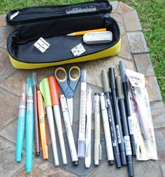 Elaine Magliacane Journal: Art Supplies - Sketch kits - What's in my bag