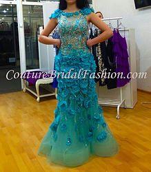 Luxury 3D Flower dress haute couture