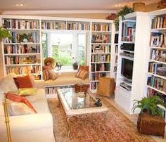 Image result for book case window seat