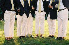 Preppy men's wedding fashion