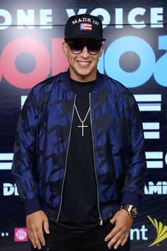 Daddy Yankee Photos - In this handout photo provided by One Voice: Somos Live!, Daddy Yankee poses in the pressroom at One Voice: Somos Live! A Concert For Disaster Relief at Marlins Park on October 14, 2017 in Miami, Florida. - One Voice: Somos Live! A Concert for Disaster Relief - Miami