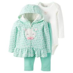 Shop all sets. Hooded jacket set in the cutest giraffe print you've ever seen! Fresh mint makes it so refreshing for baby!