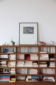 art on bookcase