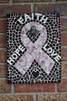 pink ribbon mosaic...can someone please make this for me?! :)