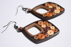 """Quilled Earrings """"Brownies"""". Quilled Jewelry"""