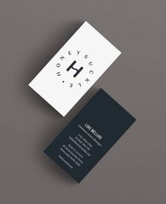 Honeyle Business Cards Graphic Design Branding Ideny Logo Brand
