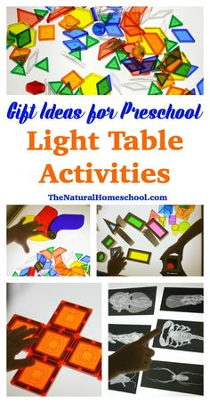 Gift Ideas for Preschool Light Table ActivitiesYou can find Light table and more on our website.Gift Ideas for Preschool Light Table Activities Gross Motor Activities, Preschool Learning Activities, Preschool At Home, Preschool Science, Fun Activities For Kids, Sensory Activities, Preschool Ideas, Sensory Play, Early Learning