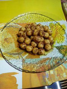gnocchi di riso con patè di olive