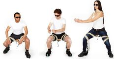 Noonee's Chairless Chair Is The Invisible Chair That You Can Wear And Sit Any Where