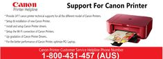 Contact Canon printer support help 1-800-431-457 for tech support help to get online solution for various issues like Canon printer not working, paper jam, printer running slow, driver issue, spooler error, printer connection problem and other technical issues affecting the functionality of the #Canon_printers connected with Windows or Mac based computers and laptops.
