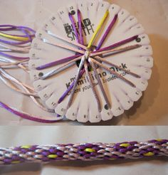 Kumihimo - Let's start with an 8 wire bracelet- Flower pattern