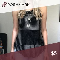 Loose striped tank Target Mossimo  size small Worn once, great condition. size small Tank from Target Mossimo Supply Co Tops Tank Tops