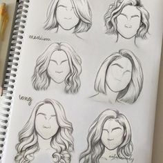 Pin By Abbmdavenport On Hairs How To Draw Hair Hair Sketch Art- hairstyles drawing short tomboy hairstyles drawing Drawing Techniques, Drawing Tips, Drawing Reference, Hair Styles Drawing, Short Hair Drawing, Drawing Drawing, Girl Hair Drawing, Learn Drawing, Design Reference