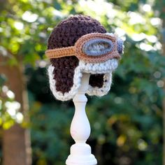 Infant Chunky Crochet Baby Aviator Hat or by GiggledPink on Etsy, $28.50.  I know a little guy in NJ who is going to get one.  His daddy flies an airplane and will love it.