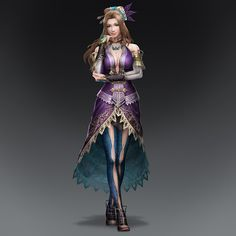 Zhang Chunhua: Dynasty Warriors 8. Uses wired gloves when fighting to ensnare enemies. Her serene expression belies her cunning and somewhat sadistic nature.