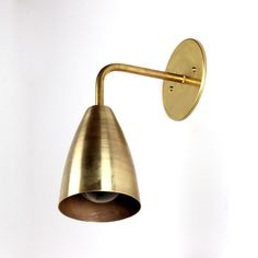 Brass shaded wall sconce - onefortythree, 2 for family room $125 each