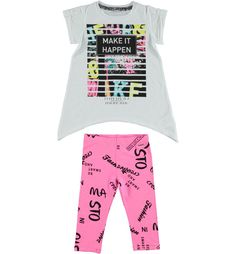 Girls' fashionable t-shirt and leggings set online  | Sarabanda Shop
