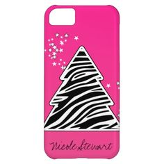 Zebra Christmas Tree iPhone 5 Case