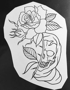 Lessons That Will Get You In The arms of The Man You love Bone Tattoos, Skull Tattoos, Body Art Tattoos, Sleeve Tattoos, Tattoo Design Drawings, Skull Tattoo Design, Tattoo Sketches, Tattoo Outline Drawing, Outline Drawings